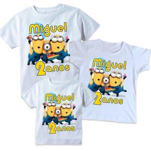 Camisetas Minions Tal Pai, Tal Mãe e Tal filho(a)