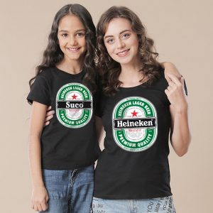 Kit Mãe e Filha (o) Heineken camisetas