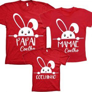 Camisetas Tal Pai Tal Mãe Tal Filho(a) Páscoa em família 3un