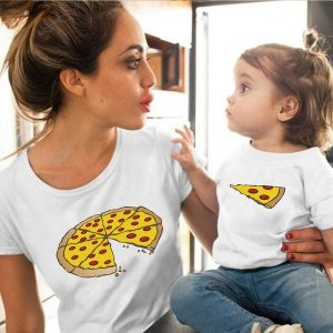 Camiseta tal Mãe tal filha(o) Pizza