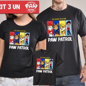 Kit Camisetas Patrulha Canina Tal Pai Tal Mãe Tal Filho(a)