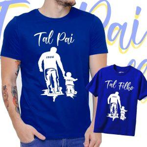 Camiseta Pai e filho(a) com ano personalizado