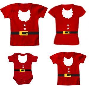 Camiseta Papai Noel 4 unidades