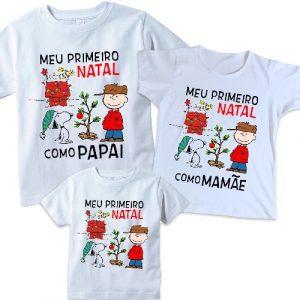 Camiseta Meu Primeiro Natal Snoopy 3 Unidades (cópia)